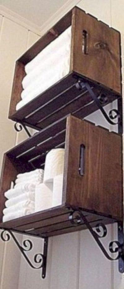 полотенца в ящичках