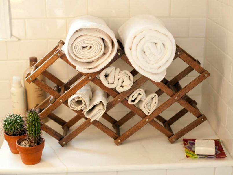 подставка для полотенец в ванную