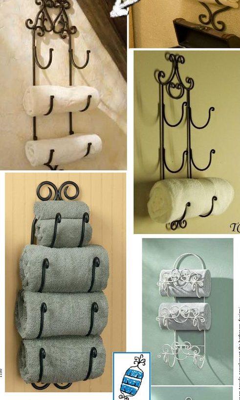 оригинальные крючки для полотенец в ванную