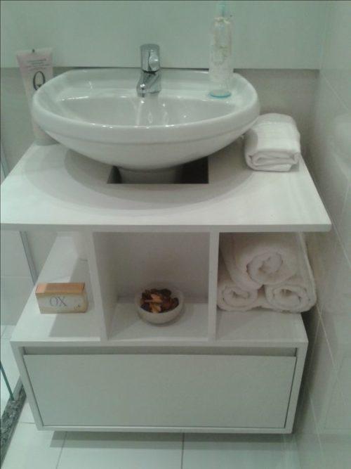 хранение под раковиной в ванной