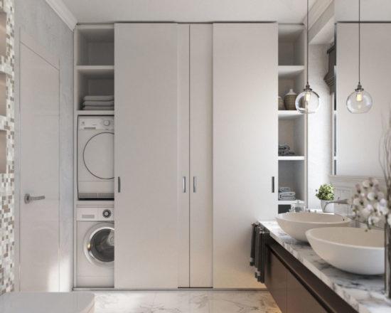 шкаф-купе-в-ванной-комнате