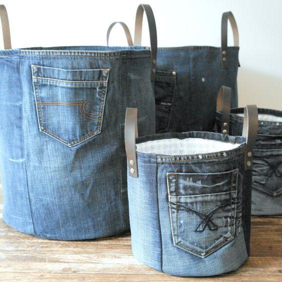 джинсовые-корзины-с-ручками