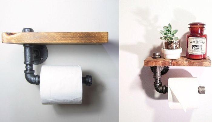держатель для туалетной бумаги из трубы