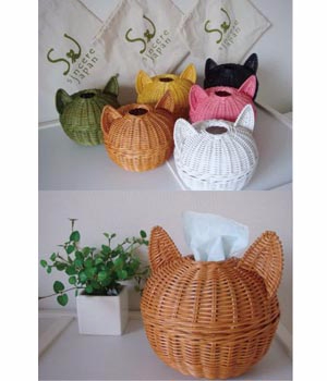 корзинка-котик для бумаги