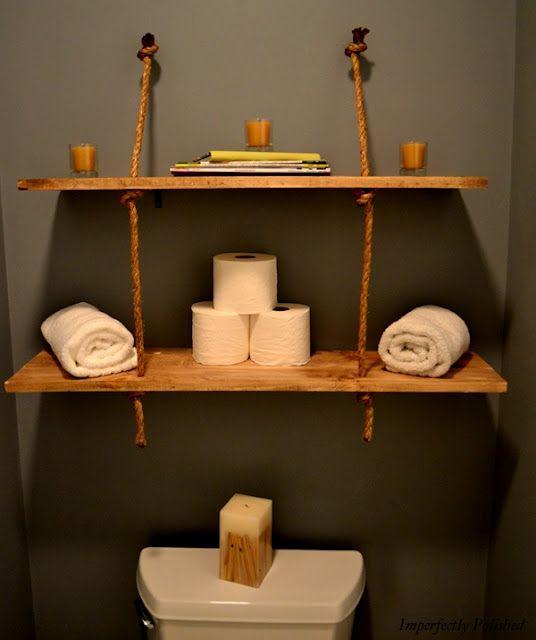 подвесные полки в ванной