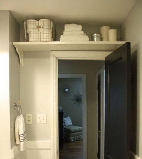 хранение в ванной на полках
