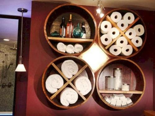 туалетная бумага хранение на полках