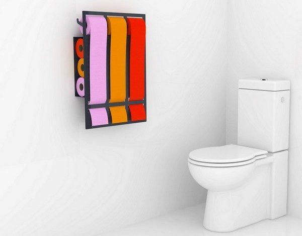 яркая туалетная бумага