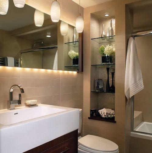 стильное хранение в ванной комнате