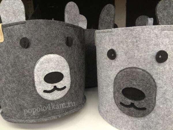 корзины-для-грязного-белья-мишки