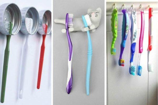 где расположить зубные щетки