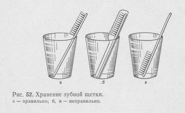 правило хранения зубных щеток
