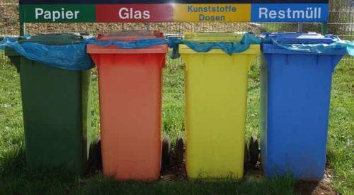 сортировка отходов в контейнеры
